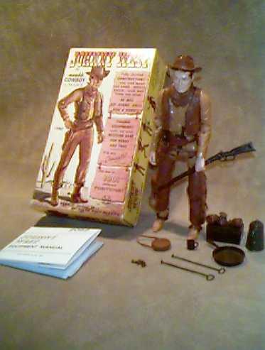 Marx Johnny West Brown Rifle Scabbard Vintage